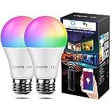 LE wifi-lamp E27, 9 W intelligente gloeilamp, Wifi, Alexa, 806 lm, RGB kleuren met warmwit, verbonden, WiFi, compatibel met G