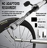 Best Bicycle Pumps - VeloChampion Alloy Mini Extender Bike Pump Black/Silver Review