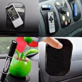 #3: BZQamy Magic Sticky Pad Anti Slip Mat Car Dashboard silical Gel for Cell Phone,Statue Keys GPS (1 PCS)