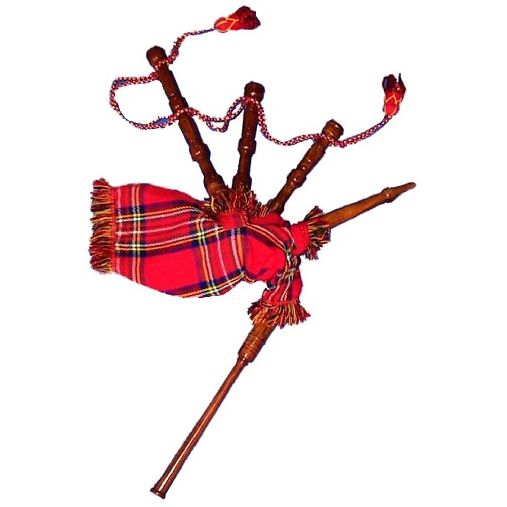 Kids Bagpipe Miniature Playable Bagpipe with Reed In Black Watch ...