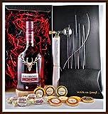 Geschenk Set Dalmore 12 Jahre Whisky + Flaschenportionierer + 10 Edel Schokoladen von DreiMeister/DaJa + 4 Whisky Fudge, kostenloser Versand