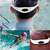 chinatera Wasserdicht Sport Stereo MP3Musik Player Headset mit FM Radio für Schwimmen Surfen, Laufen weiß 8 GB