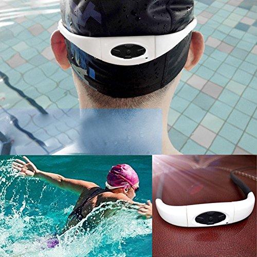 Chinatera Sport-Stereo-MP3-Player, Headset, mit FM-Radio, wasserdicht, für Schwimmen, Surfen, Laufen