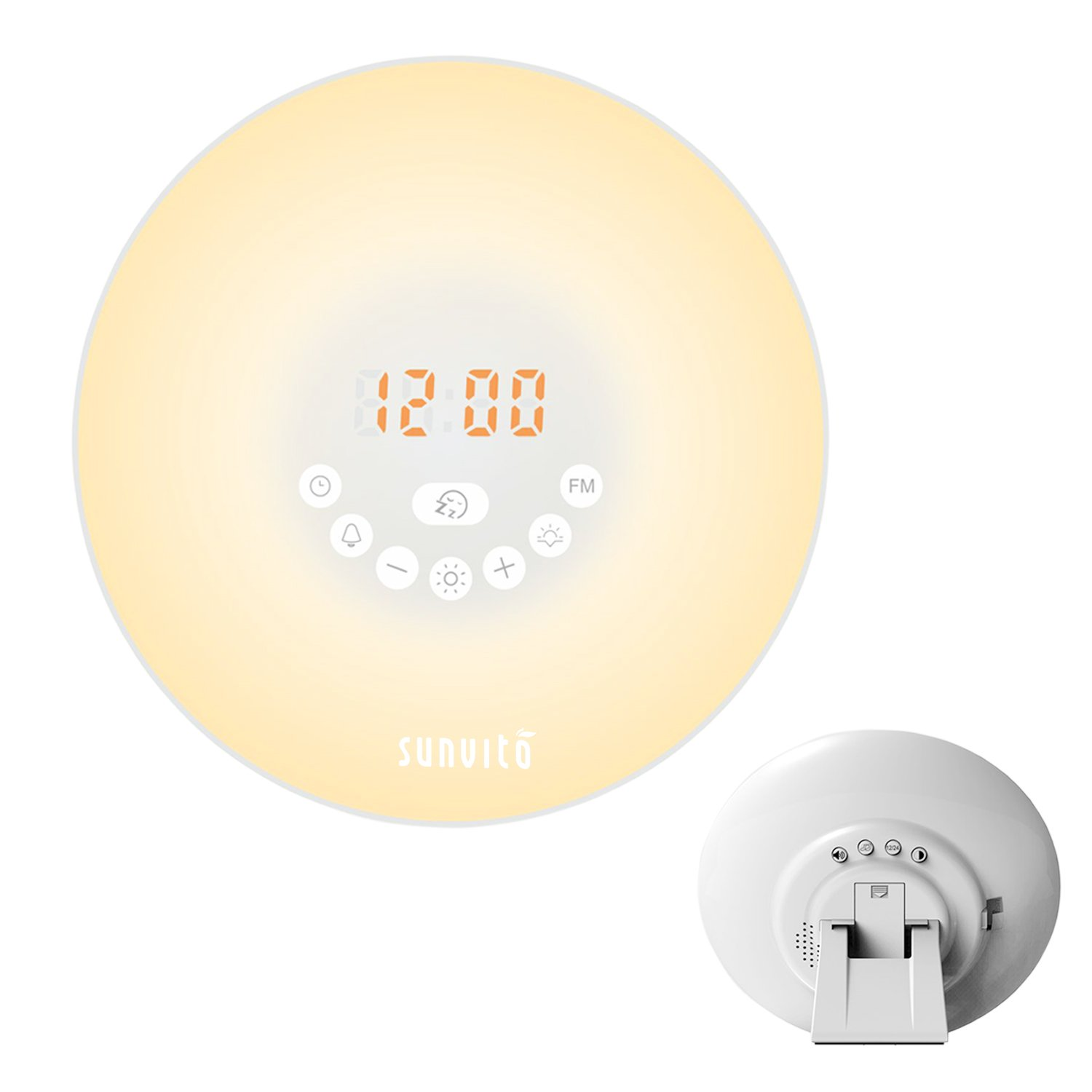 Sunvito Wake Up Light Sunrise Alarm Clock 7 Colors Night
