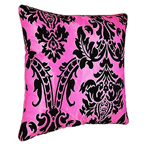 Lisa Luxury Polyester Damask Flock Cushion Covers with Polyester Flocking for Sofa , Bedroom & Living Room Decorating (18