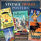 Vintage Travel Posters 2019 Square Wall Calendar