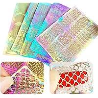 60 piezas uñas Plantillas de vinilo pegatinas Set, 5 hojas 72 Varios Diseño nette Fácil – Clavo de vinilo uñas Plantillas hojas