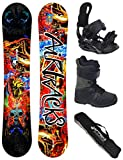 Airtracks Snowboard Set/Board Another World Carbon Wide Hybrid Rocker 160 + Snowboard Bindung Star + Boots Star Black 44 + Sb Bag