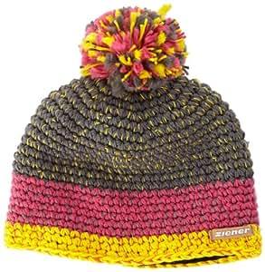 Ziener Idon Bonnet Pop Pink/Gris Mélange FR : S-M (Taille Fabricant : S/M)