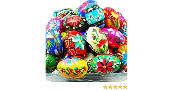 /œufs de P/âques en bois peinte /à la main vernis/ pisanki 13 par polonais de cuisine en ligne /Boulanger douzaine pysanky