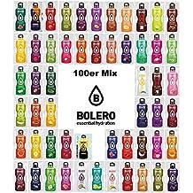 Bolero Kennenlernpaket Supersize mit 100 Tüten + Foodtastic Shaker 500ml I zuckerfreies Getränkepulver mit Stevia gesüßt I Mixbox zum Testen aller Geschmäcker