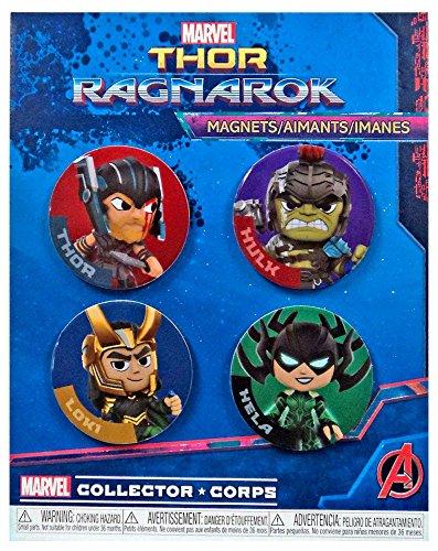 Preisvergleich Produktbild Marvel Thor Ragnarok Magnete,  Thor,  Hulk,  Loki und Hela,  4 Stück