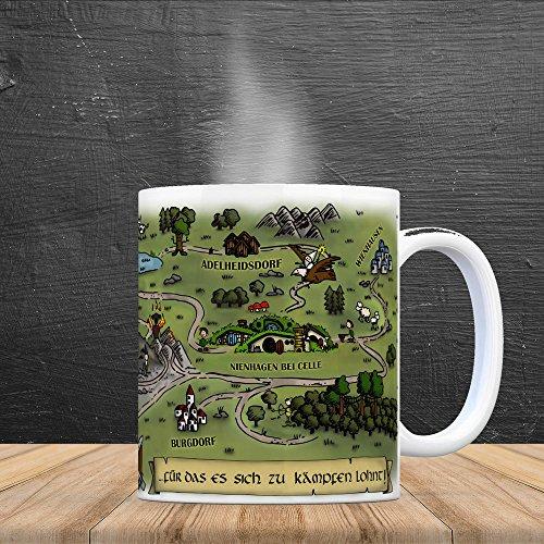 Nienhagen bei Celle Fantasy Kaffeebecher - eine Tasse als Geschenk zum Geburtstag für alle die Rollenspiele lieben! - 4