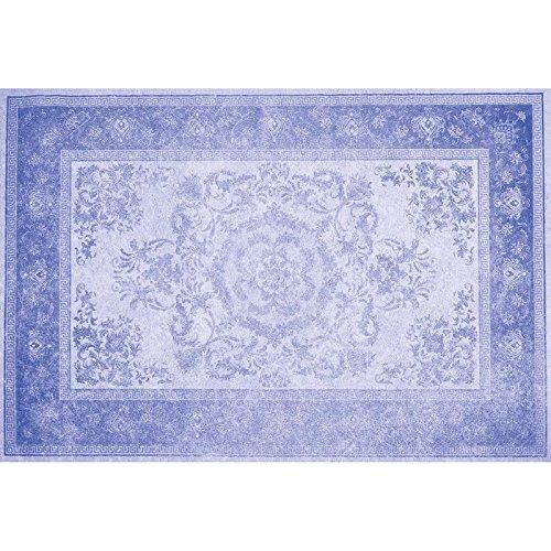 Flooralia - Alfombra Vinilica Extra Grande Vintage- 295X195cm- Azul