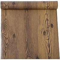 Rústico madera de nogal oscuro grano contacto papel autoadhesivo vinilo estante maletero para gabinetes de cocina mostrador mesa escritorio muebles Decor 24pulgadas por 16pies