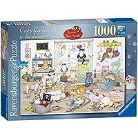 Ravensburger pazzeschi Gatti nella sala giochi Puzzle (1000 pezzi)