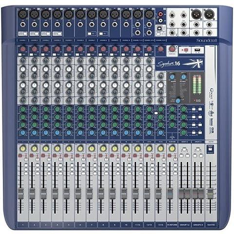 SOUNDCRAFT SIGNATURE 16 Console Analogique 16 Voies Noir