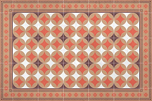 HD86 Nina Teppich, Vinyl, Granat, 180 x 120 x 0,22 cm - Granat-teppich