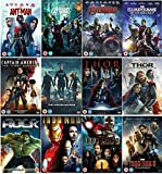 Marvel's The Avengers 12 Movies Complete DVD Collection: Ant Man / Avengers Assemble / Avengers: Age of Ultron / Guardians Of The Galaxy / Captain America: The First Avenger / Captain America: The Winter Soldier / Thor / Thor: The Dark World / The Incredible Hulk / Iron Man / Iron Man 2 / Iron Man 3 + Extras by Robert Downey Jr