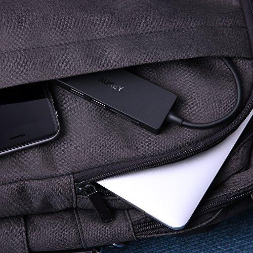 61U1R6UL wL - [amazon] AUKEY USB-C Hub mit USB 3.0 SD und Micro SD Kartenslots für nur 13,99€ statt 18,99€ *PRIME*