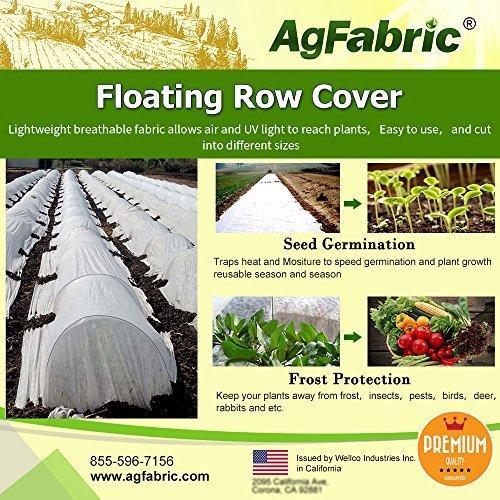 agfabric 34G Gewicht Schwimmende Zeile Bezug und Pflanze Decke für Frostschutz und Samen Keimung (Plant Tunnel)