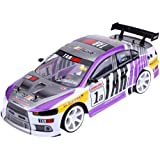 RC Car, 1/10 Four-Wheels Drive 4WD Remote Control Model, RC Racing Car Drift Toy Vehicle (Two Batteries for Car)