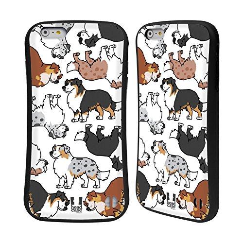 Head Case Designs Cavalier King Charles Spaniels Hunderasse Muster 3 Hybrid Hülle für Apple iPhone 6 / 6s Australian Shepherd