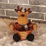 Gaddrt Süßigkeiten Korb Stempel Weihnachten Candy Ablagekorb Dekoration Weihnachtsmann Ablagekorb Geschenk 19x18CM (B)