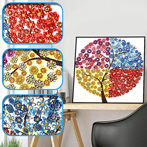 Amhomely Neu!Blume 5D Diamant-Malerei Kit,Intelligenzspielzeug für Kinder,DIY 5D Diamant Painting Kristall Stickerei Kreuzstich Arts Craft für Home Wand-Decor Fotografie-Requisiten-Hintergrund