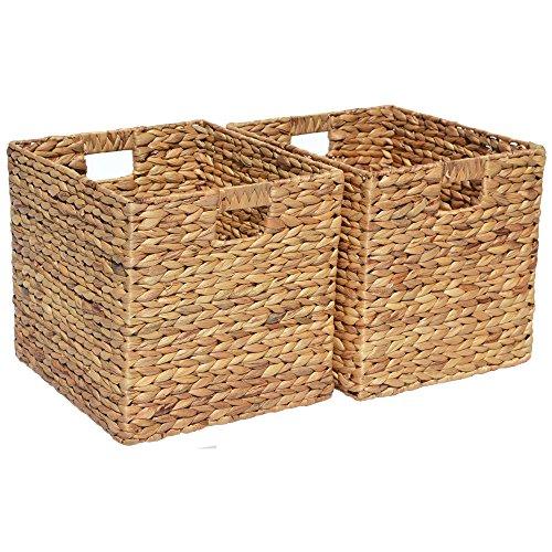 Wovenhill Home Storage Juego 2 cestas cuadradas Almacenamiento