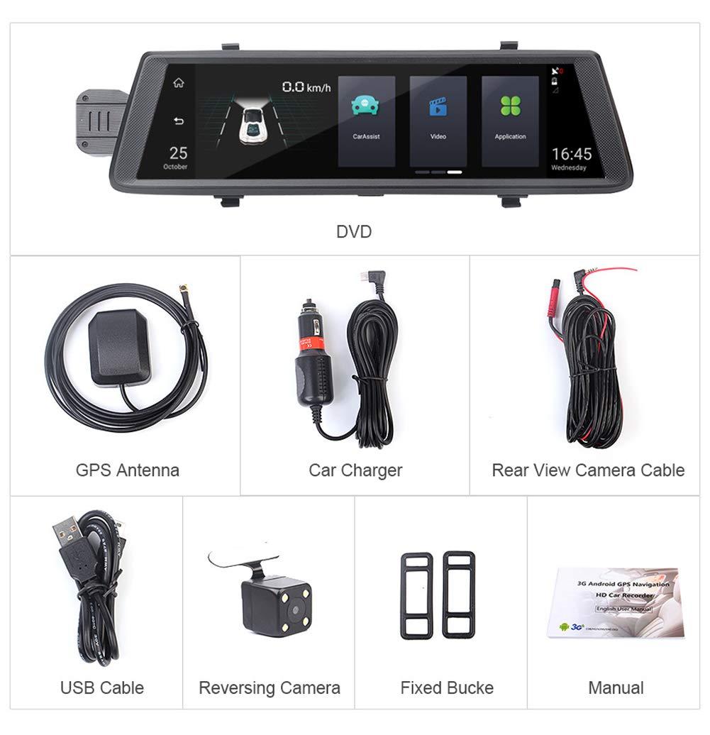VNIUBI-10-Zoll-IPS-Touchscreen-Auto-Fahren-Recorder-Doppelobjektiv-Bluetooth-Wifi-3G-Auto-Rckspiegel-DVR-Kamera-Kurze-Distanz-Nocken-150-Grad-Weitwinkel-G-Sensor-Zyklus-Aufnahme