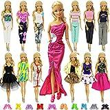 ZITA ELEMENT 20 Piezas Ropa Vestido Accesorios - 10 Piezas Ropa Vestido Fashionista Hecha a Mano y 10 Pares de Zapatos para Muñeca Barbie Regalo de Niña - Aleatorio