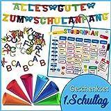 1. Schultag - Geschenkset Einschulung Girlande Schulanfang, Deko-Schultüten & Geschenke