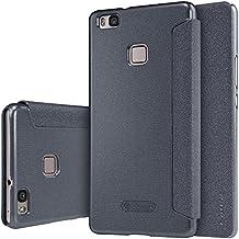 Nillkin Sparkle - Carcasa tipo funda libro protectora y antideslizante para Huawei P9 Lite / G9 Lite - Negro