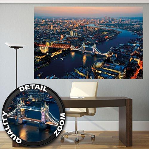 Metropoli Londra al tramonto London fotomurale by