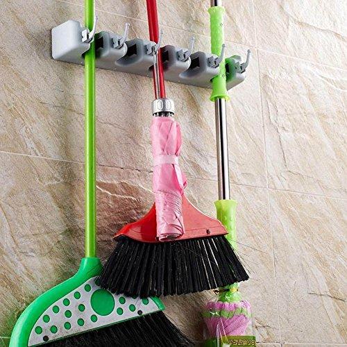 homeju Wand montiert Besen Mop Halter Garten Werkzeug Sports Equipment Rack Speicherung und Organisation Aufhänger