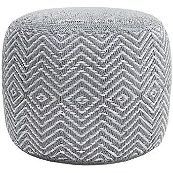 homescapes sitzhocker rund see grau 40 x 35 cm sitzkissen strick pouf bodenkissen grob. Black Bedroom Furniture Sets. Home Design Ideas