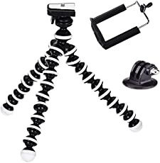 Yantralay 10 inch Flexible Gorillapod Tripod with Quick Release Plate & Free Mobile Attachment & Tripod Mount for DSLR, Smartphones & Action Cameras