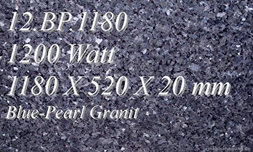 Infrarotheizung Marmorheizung Elektroheizung Infrarotheizkörper Magmaheizung 1200 Watt 12.BP.1180R mit hochwertigem Steckdosenregler mit 2 Kontroll-Leuchten, Schalter und Gradeinstellung für präzise Temperatursteuerung