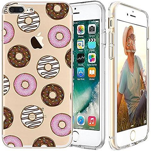iPhone 7 Custodia,Apple iPhone 7 (4.7 inch) Custodia,Richoose iPhone 7 TPU [Slim Fit] Cancella TPU Gel Della Gomma Custodia Protettiva,Cassa del Respingente Crystal Clear Trasparente Custodia Protettiva per iPhone 7 4.7 inch - Donuts