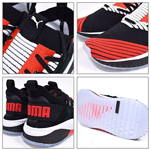 Puma sneakers Tsugi Jun Cubism - Black/White/Flame Scarlet Black Red