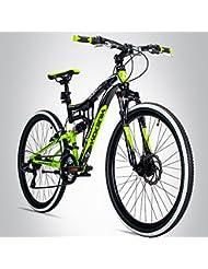 Bergsteiger Kodiak 24 Zoll Kinderfahrrad, geeignet für 8, 9, 10, 11 Jahre, Scheibenbremse, Shimano 21 Gang-Schaltung, Mountainbike mit Vollfederung, Jungen-Fahrrad