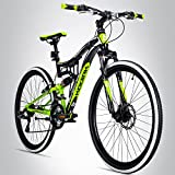 Bergsteiger Kodiak 29 Zoll Mountainbike, geeignet ab 170 cm, Scheibenbremse, Shimano 21 Gang-Schaltung, Vollfederung, Jungen-Fahrrad & Herren-Fahrrad