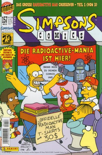 (SIMPSONS Comics # 157 - Das grosse Radioactive Man Crossover - Teil 1 - Panini (Simpsons))