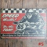 Retro Metal Poster Cars Motorcycle Tin S...