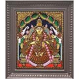 Traditional Tanjore Art Gajalakshmi Painting (13 In X 11 In X 2 In, GLKS10)