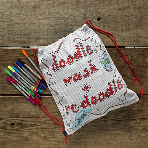 EatSleepDoodle Drawstring Backpack