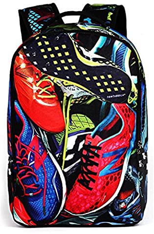 YAAGLE Colour Printing 22L Personality Creative Backpack for Youth Teenager Student