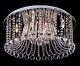 Ø60cm LED Kristall Farbwechsel Deckenleuchte Wohnzimmer Deckenlampe Fernbedienbar mit Led Leuchtmittel