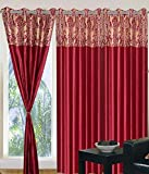Geonature Maroon Allover Eyelet Door cur...